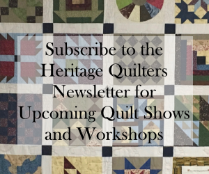 Heritage Quilters newsletter