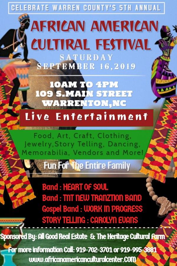 african american cultural festival warrenton nc 2019